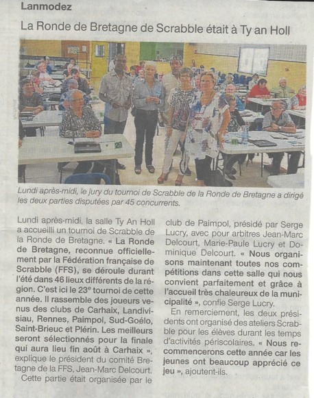 ARTICLE OUEST FRANCE 50